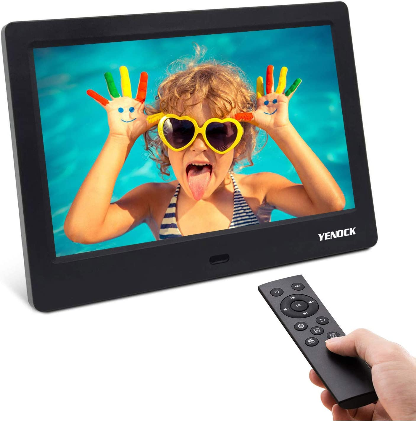 Xiejuanjuan Digital Picture Frame with IPS Display 7 Inch Digital Picture FrameMP3 Music 1080P HD Video 1024600 Pixels High Resolution Smart Electronic Frame Auto On//Off Timer Remote Control Included
