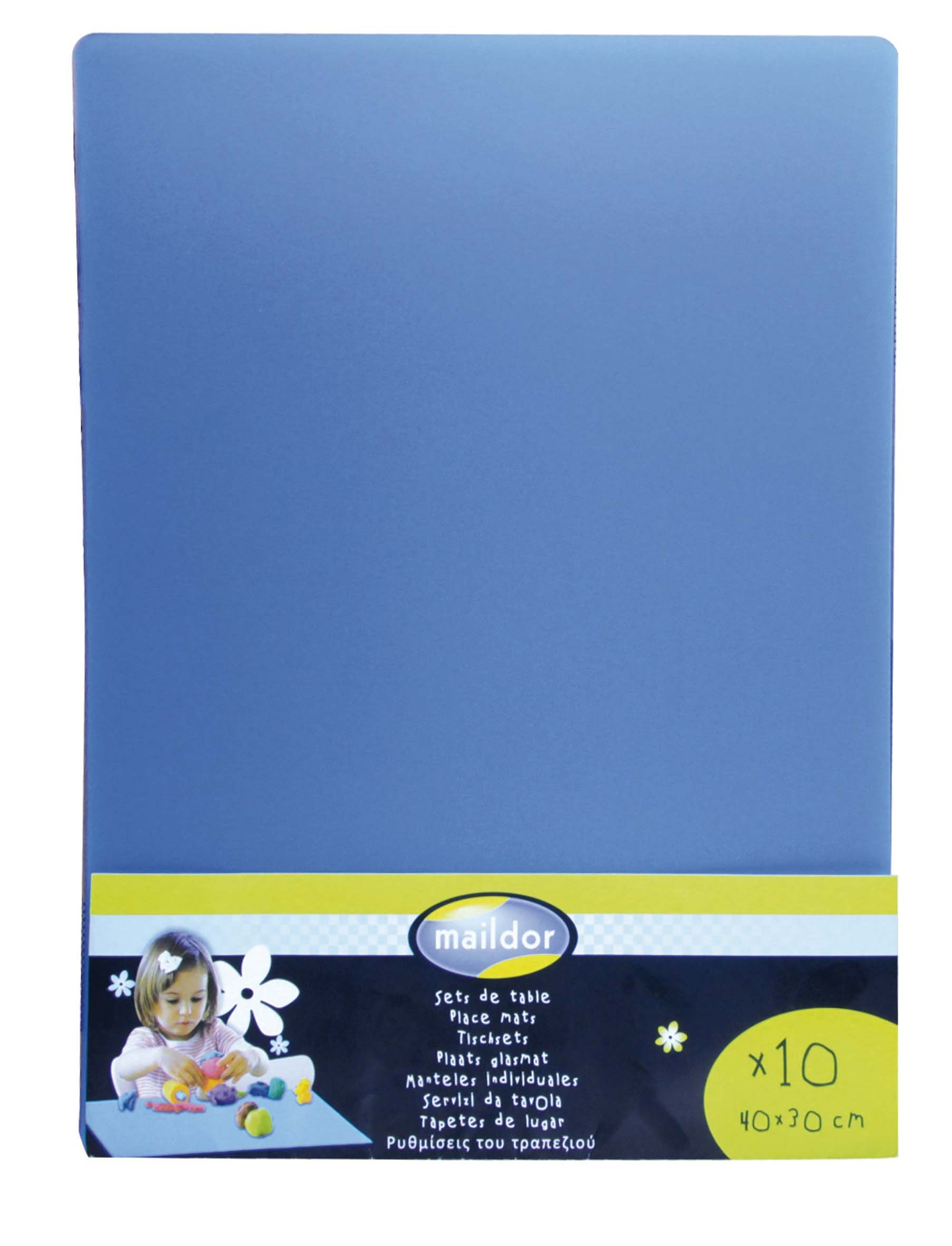 Maildor 40 x 30 cm Table Mats, Pack of 10, Multi-Color by Maildor