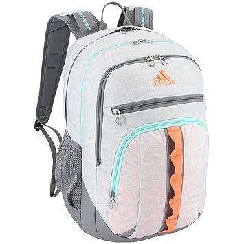 bc287acdac9 adidas Prime III Backpack, Jersey White/Grey/Flash Orange/Energy Aqua,