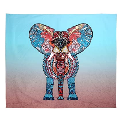 0fdb6786c6 Balai Elephant Indian Mandala Hanging Wall Tapestries Hand Tapestry For  Psychedelic Table Cloth Hippie Hippy Beach