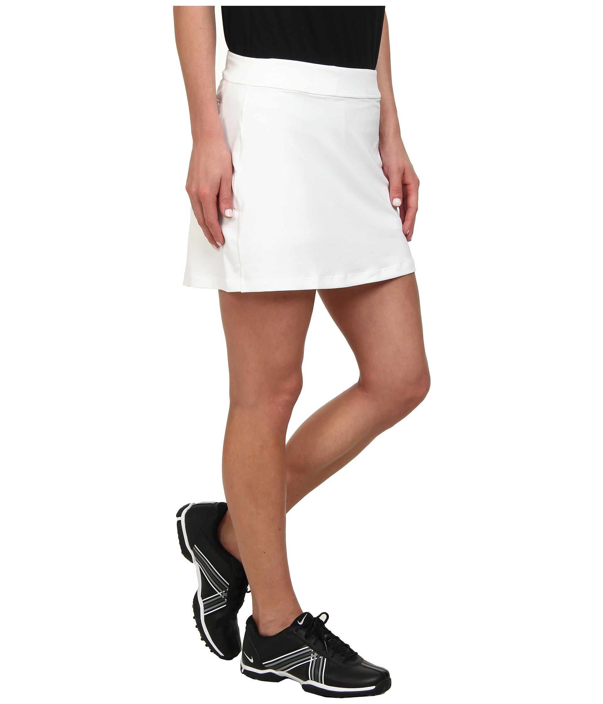 NIKE 14.5in Dry Knit Print Golf Skort 2017 Women, White, Medium