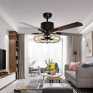LuxureFan 52 ventilador de techo industrial para exteriores con 5 ...