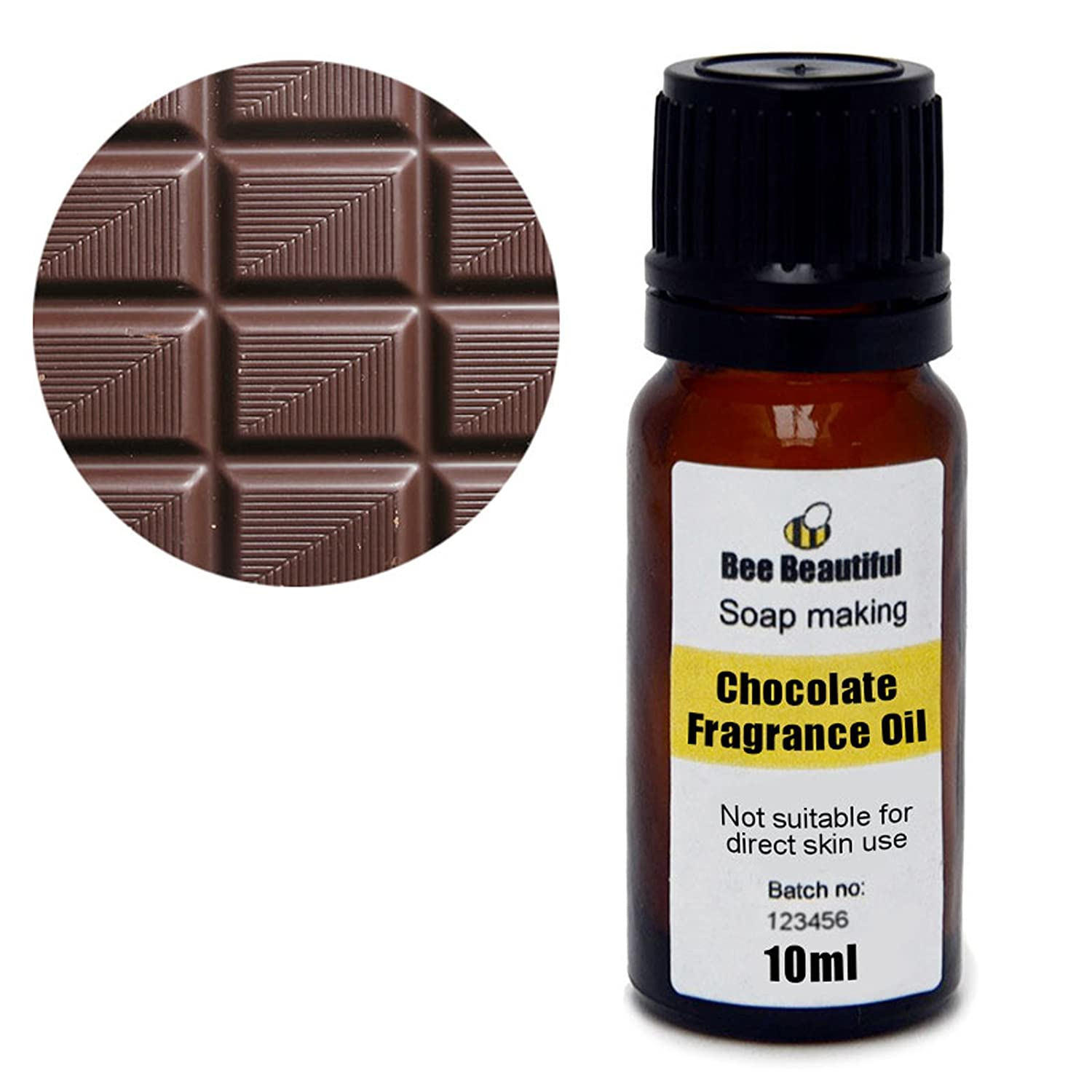 Bee Beautiful 10ml Chocolate Fragrance Oil suitable for soap making & bath bomb making