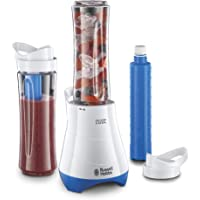 Russell Hobbs 21351 Mix and Go Cool Smoothie 300W Mixer/Blender - White/Blue