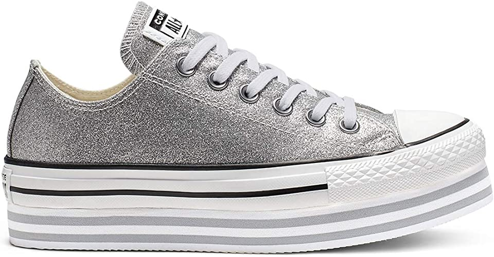 Converse All Star Lift Ox Femme Baskets Mode Noir: Amazon.fr ...