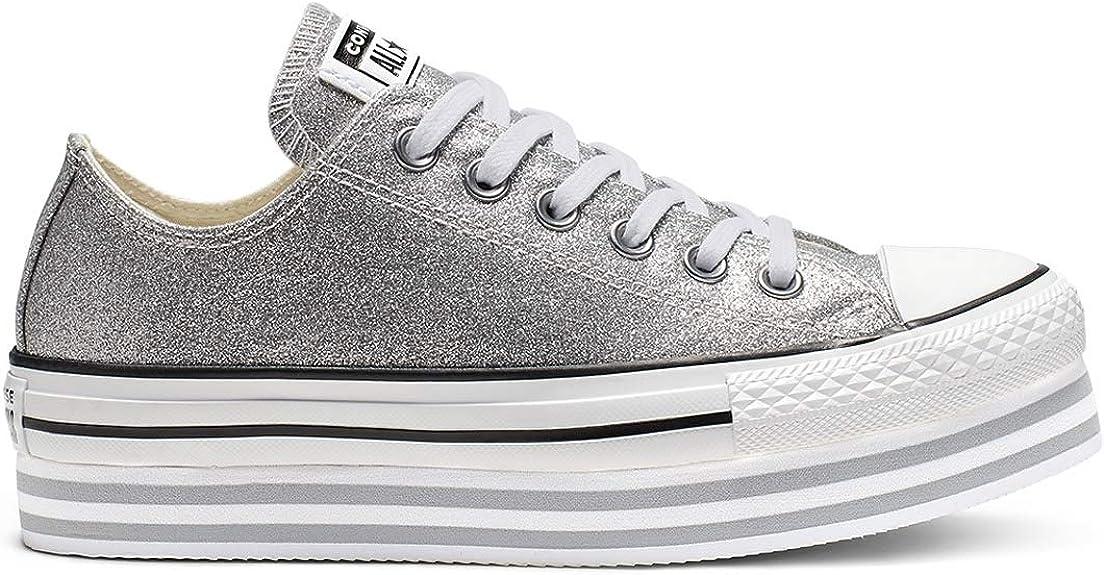 Converse All Star Lift Ox Femme Baskets Mode Noir: Amazon.fr ...