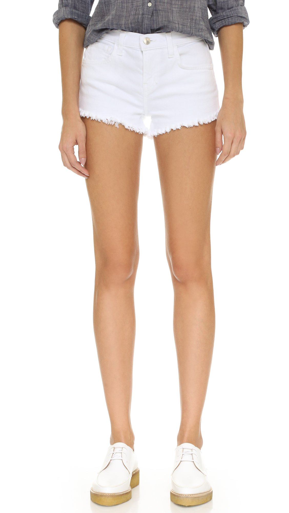 L'AGENCE Women's Zoe Perfect Fit Shorts, Blanc, 24