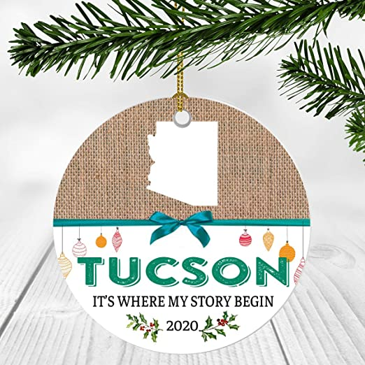 Amazon.com: First Christmas Ornament 2020 With Tucson City Arizona