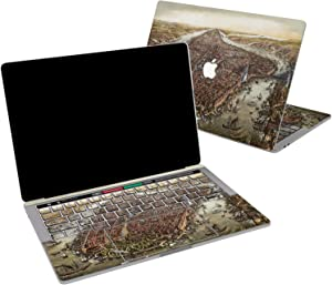 Lex Altern Vinyl Skin for MacBook Air 13 inch Mac Pro 16 15 Retina 12 11 2020 2019 2018 2017 Antique Medieval City Vintage Ship Historical Wrap Laptop Cover Protective Decal Sticker Touch Bar Top