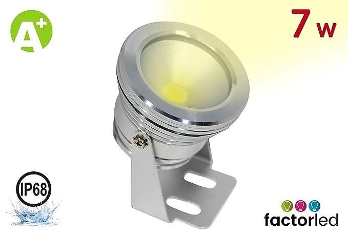 FactorLED Foco Proyector Exterior LED 7w, con Ángulo de ...