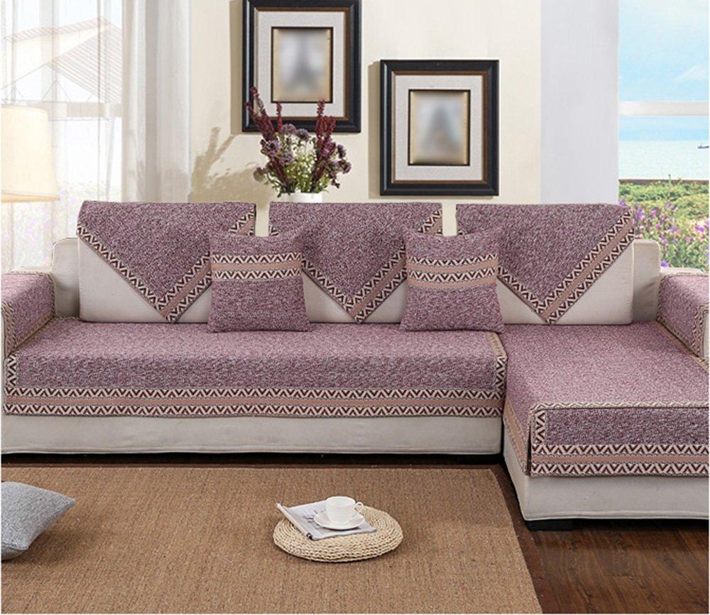 紫の四季のソファのクッション、ファブリックシンプルでモダンな冬のフルカバーヨーロッパのリビングルームのカバータオル ( サイズ さいず : 110*210cm ) B078LX3TJC 110*210cm 110*210cm