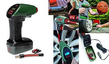 Takestop® Compresor de aire portátil Air Dragon con luz led para inflar ruedas