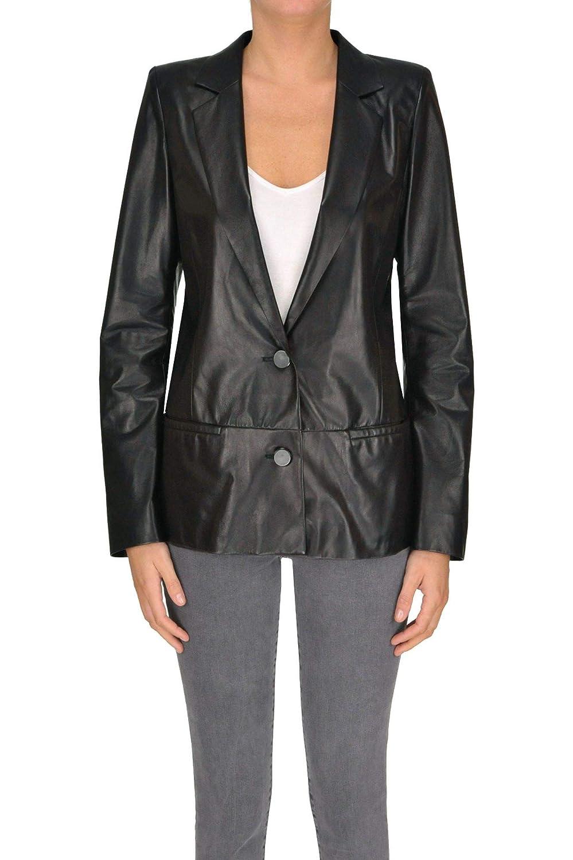 Drome Women's MCGLCSL000005000E Black Leather Blazer