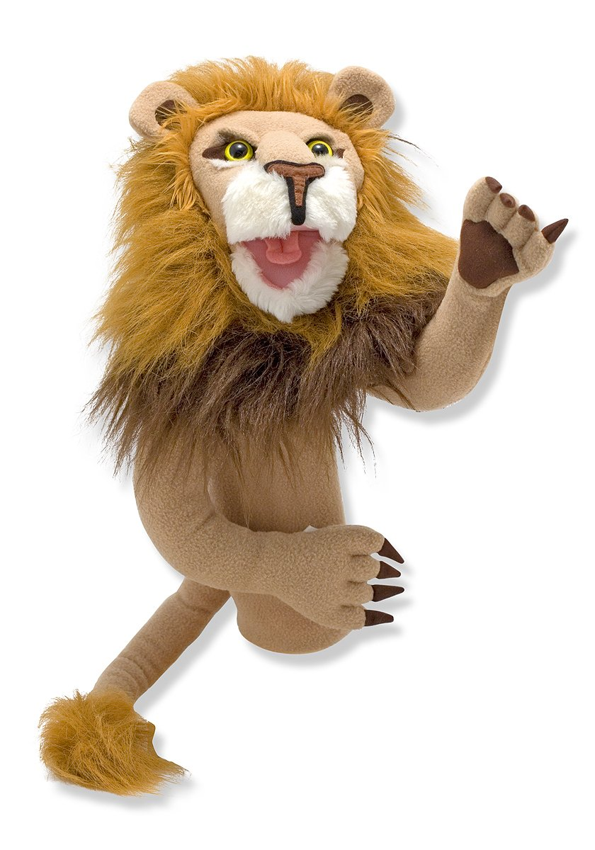 Melissa & Doug Rory the Lion Puppet With Detachable Wooden Rod for Animated Gestures