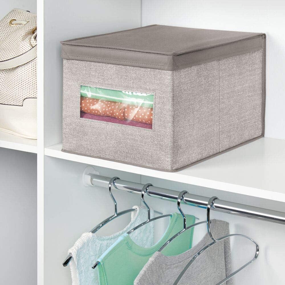 bac de rangement id/éal pour accessoires b/éb/é ou dans le placard lot de 6 mDesign bo/îte de rangement beige grand panier de rangement en fibre synth/étique respirable