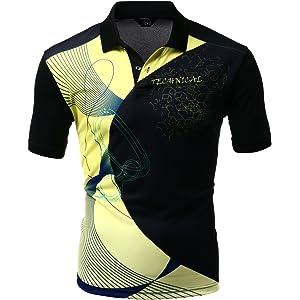 Men\'s 2 Tone Pattern Coolmax Fabric Short Sleeve Polo T-Shirt ...