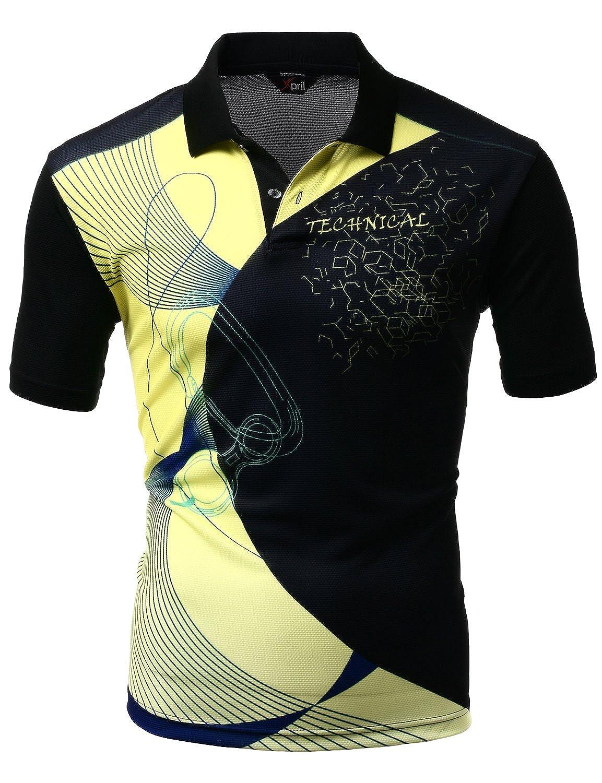 Xpril Mens Cool Max Fabric Sporty Design Printed Polo T Shirt At