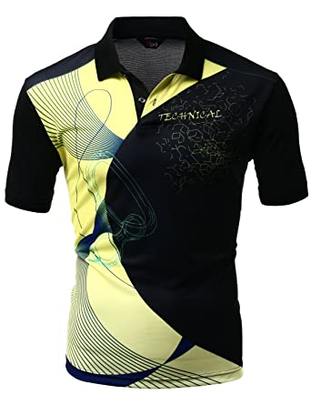 35d774429 Xpril Men's Cool Max Fabric Sporty Design Printed Polo T-Shirt at ...