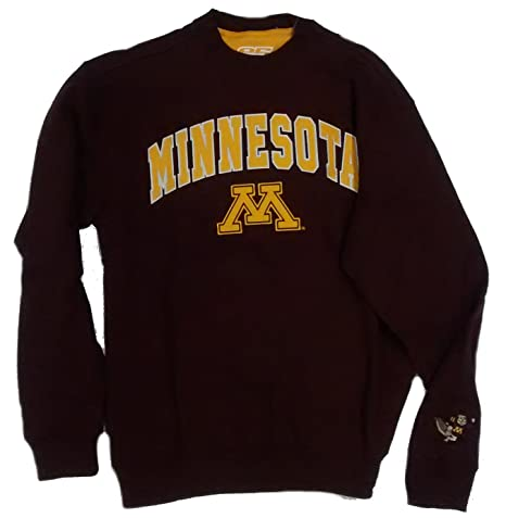 Maroon Crewneck University of Minnesota Gophers Tackle Twill Sweatshirt  (Medium) 1ba13848e