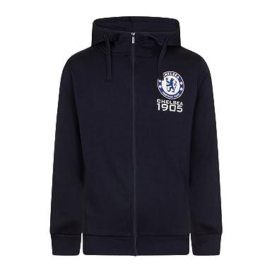 46e0858ee1048 Chelsea FC - Sudadera oficial con capucha y cierre de cremallera - Para  hombre - Forro polar  Amazon.es  Ropa y accesorios