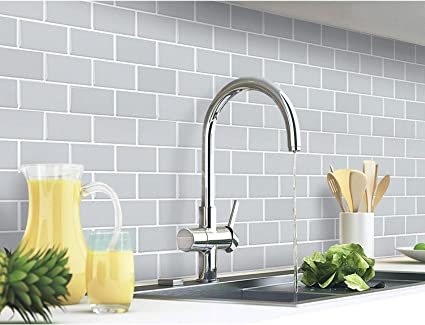 Yoillione Peel And Stick Wall Tiles Backsplash For Kitchen And Bathroom 3d Stick On Tiles Metro Subway Tiles Self Adhesive Tile Stickers Grey Pack Of 4 Sheets Amazon Co Uk Home Kitchen