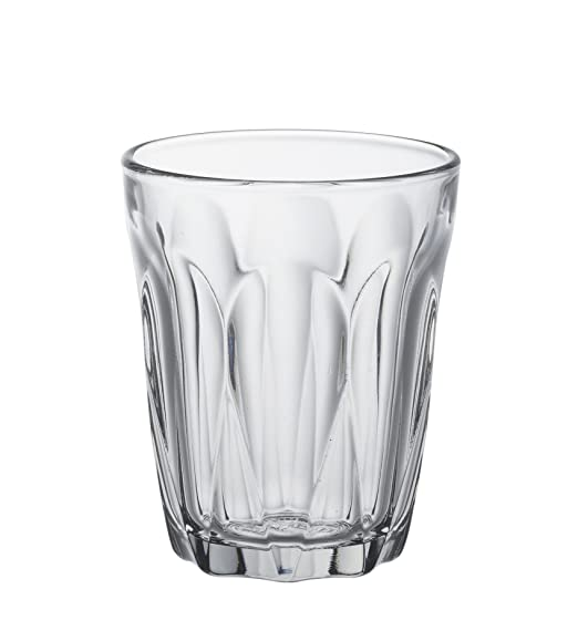 Duralex Made in France, Provence Tempered Clear Glass Tumbler Set of 6 pcs, 9 cl (90 ml) Glassware & Drinkware at amazon