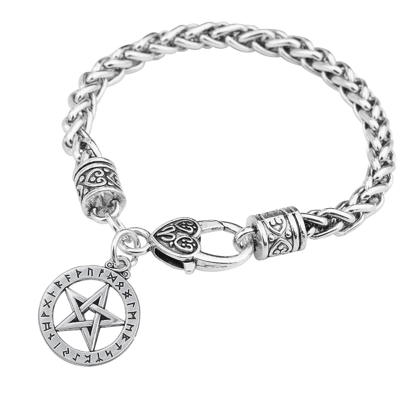 Teamer fascino bracciali Viking Rune gioielli amuleto pentacolo Pentagram ciondolo Supernatural da uomo donna Jewelry Qiju