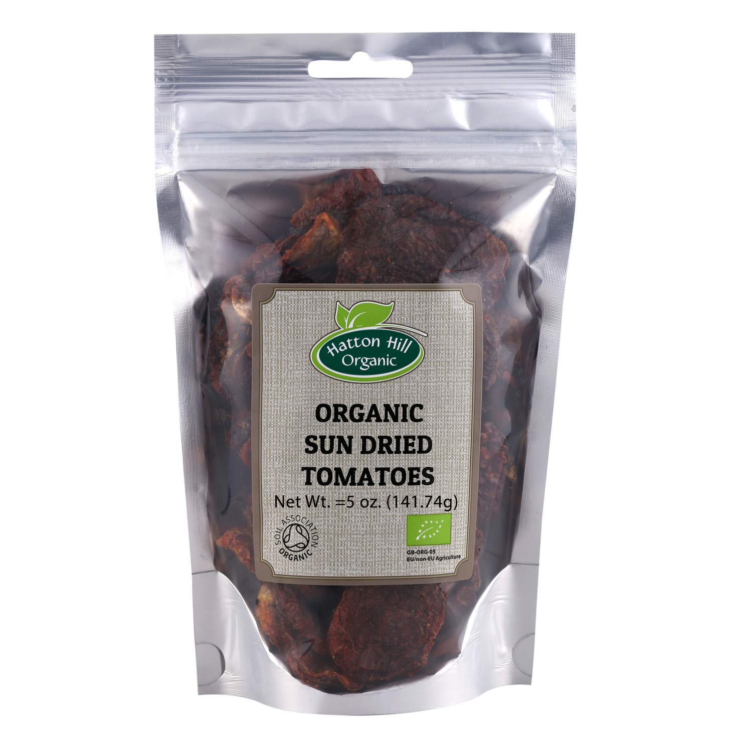 Organic Sun Dried Tomatoes Halves (Salted) 5 oz. by Hatton Hill Organic