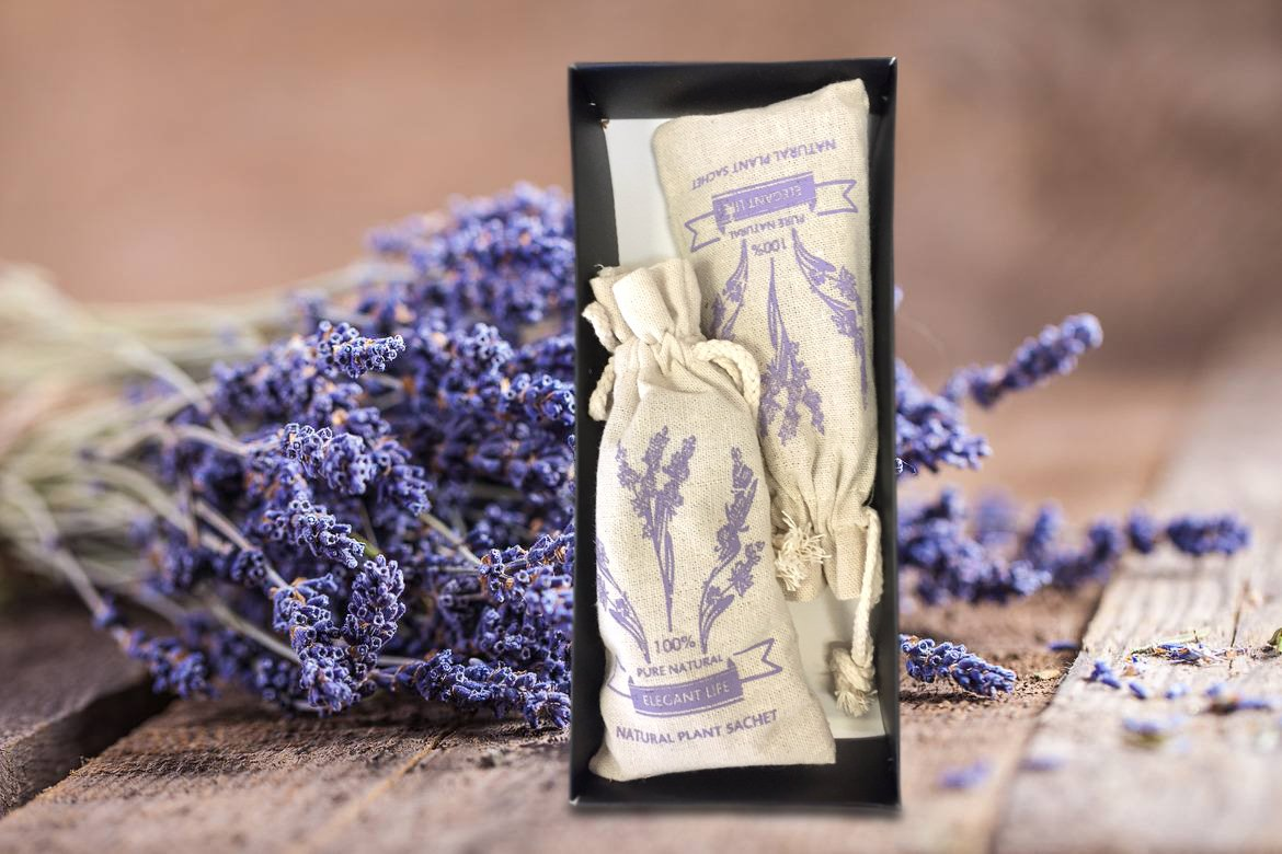 French Lavender Scented Sachet Gift Box for Pillow Nightstand Closet Workout Bags Natural Lavender Fragrance Aromatherapy Lavender Scent Drawer 2packs Suitcase Car