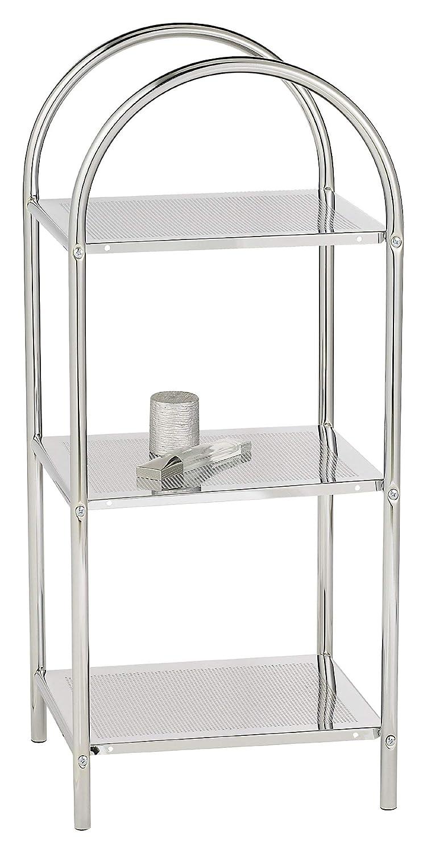37 x 87 x 34 cm Chrom WENKO 12256100 Badregal mit 3 Etagen Stahl Haushaltsregal