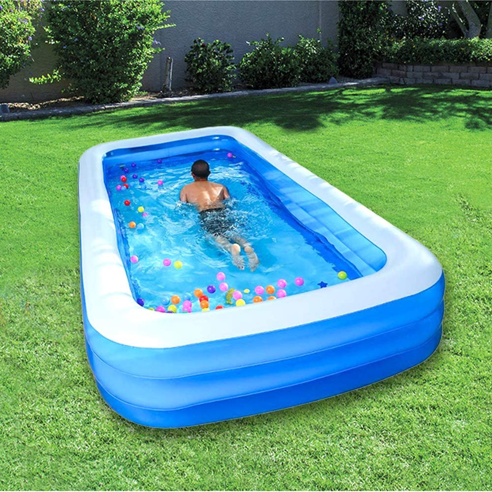 Inflatable Swimming Pool Outdoor Family For Kids And Adults Above Ground Inflatable Full Sized Thicken Pools Garden Outdoor