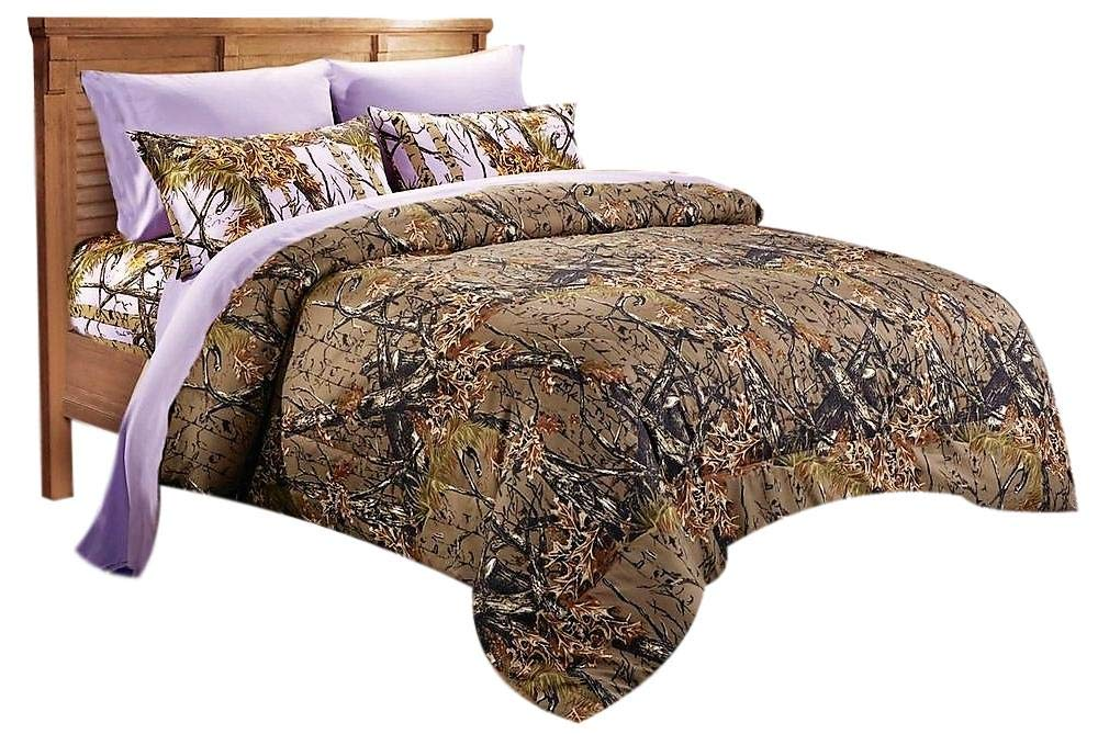 20 Lakes Woodland Hunter Camo Comforter, Sheet, Pillowcase Set (Twin, Forest)