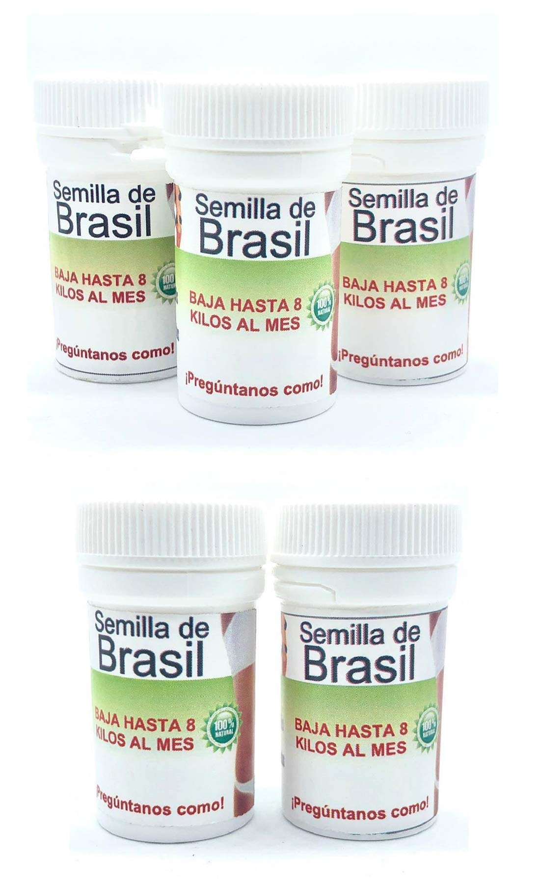 5 Bottles Semilla de Brasil Seed Original Brazilian Natural Weight Loss 150 Seeds For 150 day