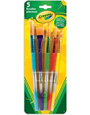Crayola 5 Assorted Premium Paint Brushes, School, Craft, Painting and Art Supplies, Kids, Ages 3,4, 5, 6 and Up, Back to school, School supplies, Arts and Crafts,  Gifting