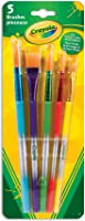 Crayola 5 Assorted Premium Paint Brushes, School, Craft, Painting and Art Supplies, Kids, Ages 3,4, 5, 6 and Up, Back to...