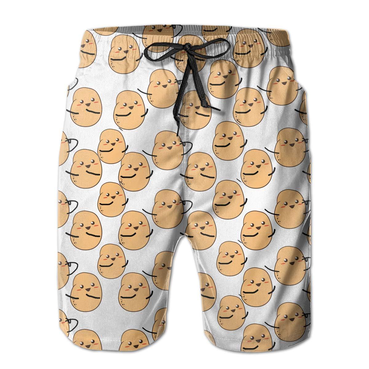 YongColer Boardshort Im A Potato Cute Potato Boys Teen Quick Dry Sports Trunks