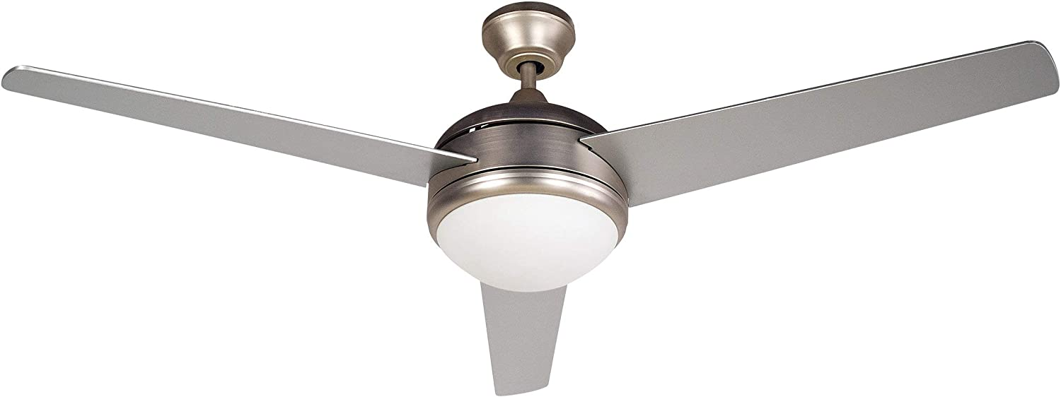 BLACK+DECKER BCF5201R 52-Inch 3-Bladed Remote Controllable Brushed Nickel Ceiling Fan, One Size, Silver
