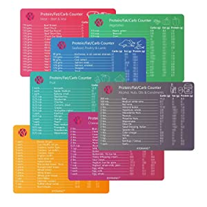 Keto Cheat Sheet Magnets, Keto Diet Magnets 7 Pcs for Ketogenic Diet Foods, Quick Guide Fridge Magnet Reference Charts for 119 Ingredients Including Meat, Vegetables, Seafood, Friut ans so on