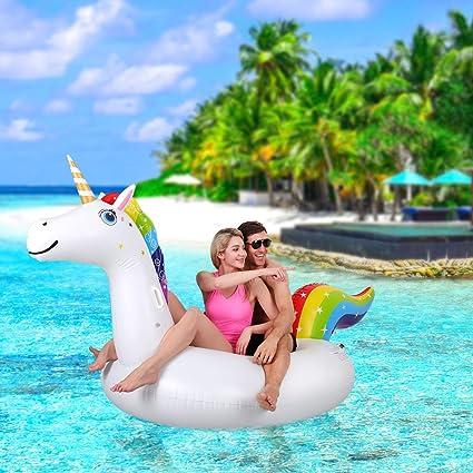 Amazon.com: OlarHike - Flotador hinchable para piscina con ...