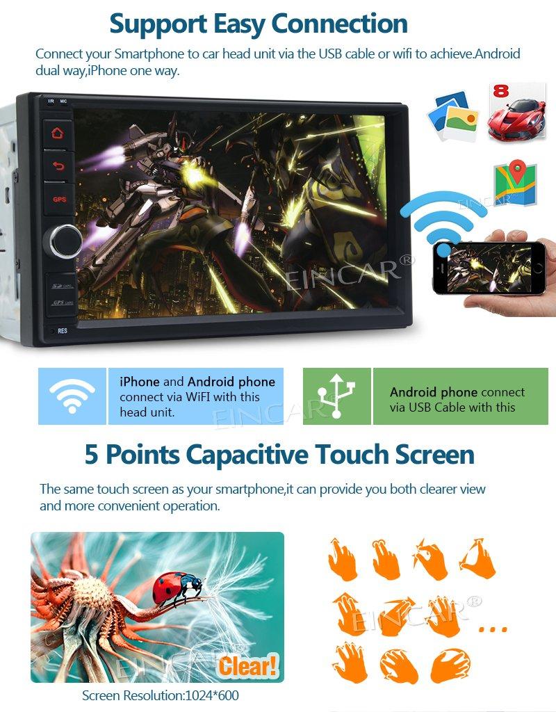 DAB + 3G 4G WIFI Miroir Link USB // SD Cam/¨/¦ra de recul Soutien de d/¨/¦marrage rapide navigation GPS OBD2 DVR Double Din Bluetooth 4.0 Radio 2 Go 32Go Android 7.1 Car Stereo