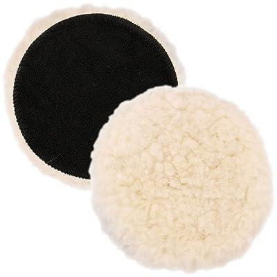 "TCP Global 7"" Natural 100% Wool 1"" Pile Grip Buffing & Polishing Pad: Automotive"