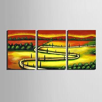 Pastorale Landschaft 100% handbemalt Home Decor Peinture à l\'huile ...