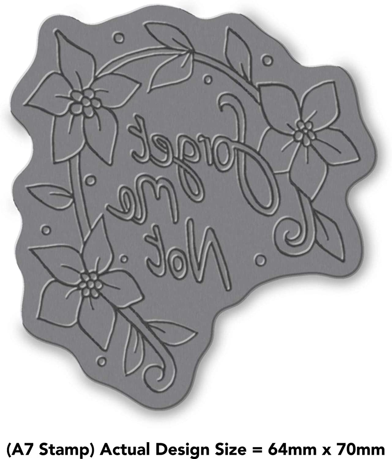 Azeeda A7 Forget Me Not Unmounted Rubber Stamp RS00002536