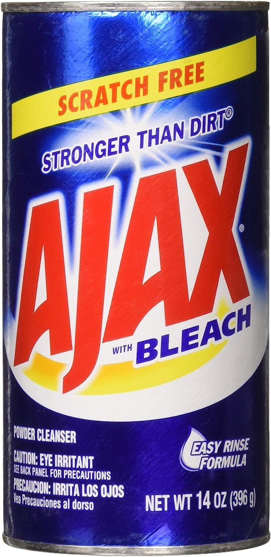 Ajax Powder Cleanser with Bleach, 14 oz (396 g) (2 Pack)