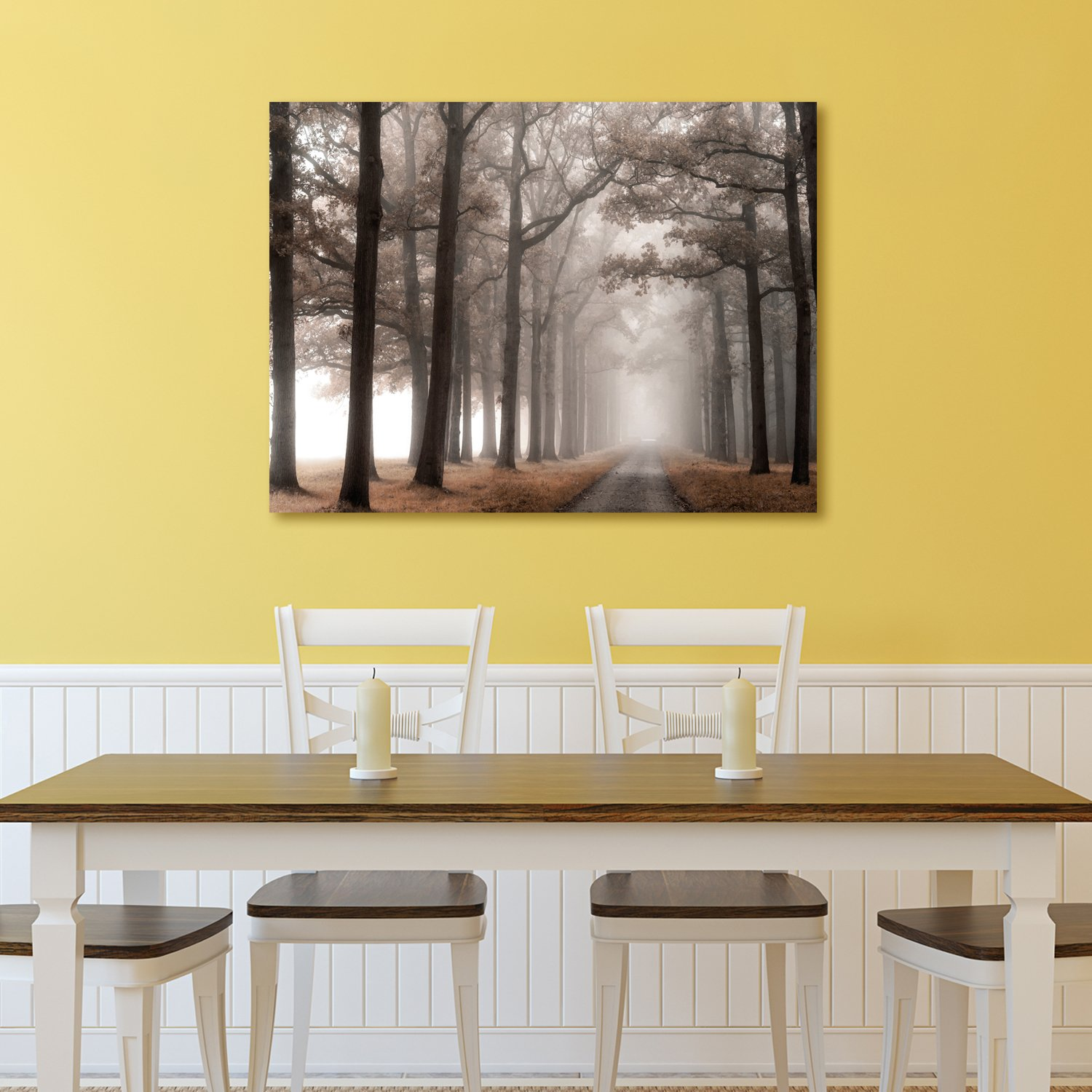 Amazon.com: Portfolio Canvas Decor Portfolio Décor Misty Road by ...