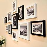 WollWoll City View Paris Black and White Theme Large Photo Frame Set (135 cm x 1.6 cm x 70 cm)