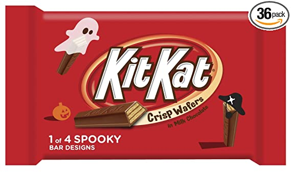 14 X HALLOWEEN KITKAT CHOCOLATE WRAPPER LABELS TRICK OR TREAT PARTY FAVOURS H002