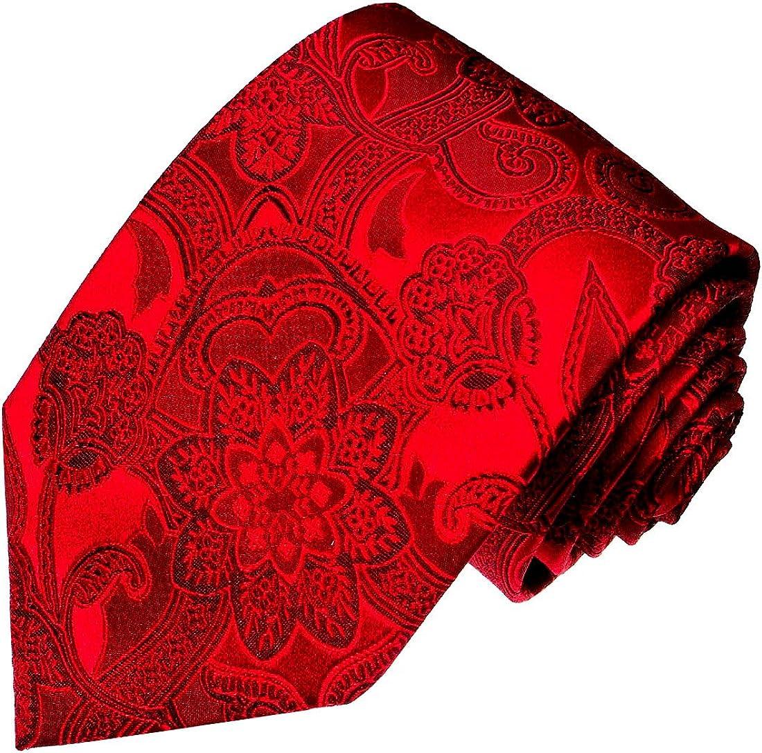 LORENZO CANA – Corbata rojos de 100% seda con estampado de ...