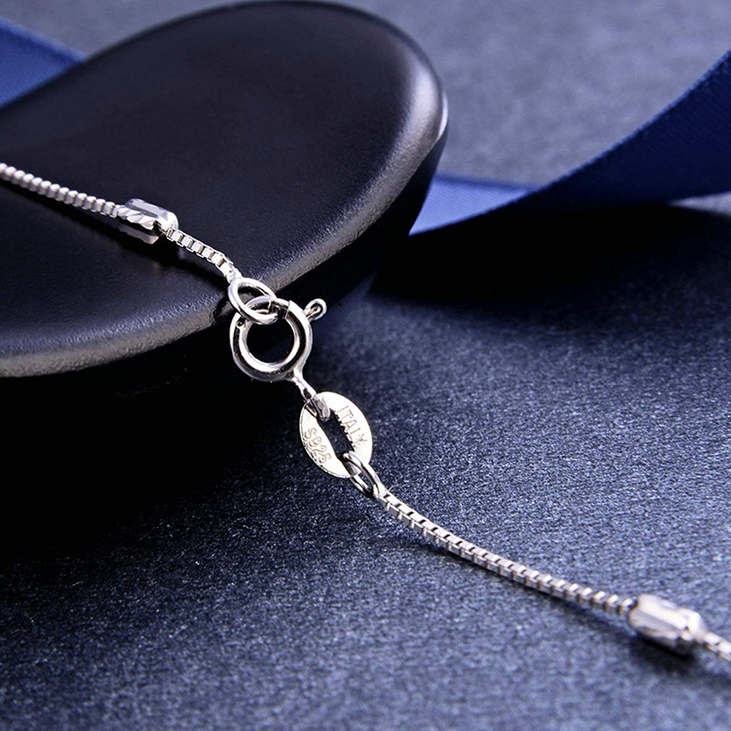 KnSam Chain Necklaces Women Silver Chain Silver Necklace Chain 45Cm Pearl Necklace for Girls