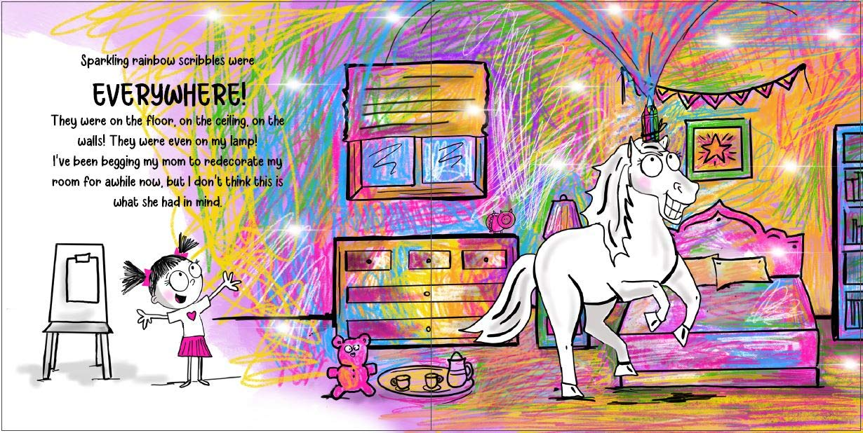 Never Let a Unicorn Scribble!: Alber, Diane: 9781732934672: Amazon ...